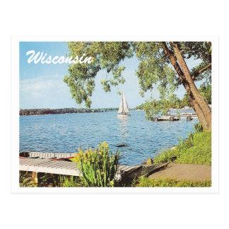 Vintage Summer Lake Postcard