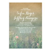 Vintage Summer Meadow Elegant and Dreamy Wedding Card
