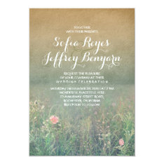 Vintage Summer Meadow Elegant And Dreamy Wedding Card at Zazzle