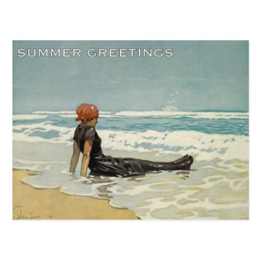 Vintage Summer Postcard From The Beach