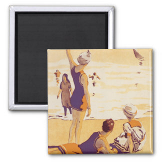 Vintage Summertime at the Beach Magnet