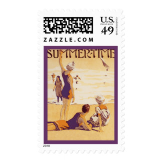 Vintage Summertime at the Beach Postage