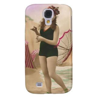 Vintage Sun Bather Beach Babe 3G Spec Galaxy S4 Cases