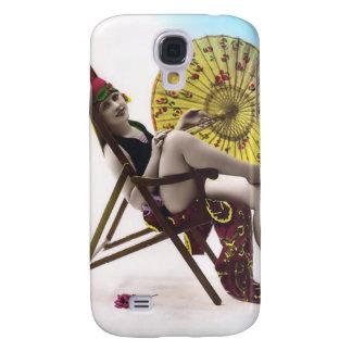 Vintage Sun Bather Beach Babe 3G Spec Samsung Galaxy S4 Case