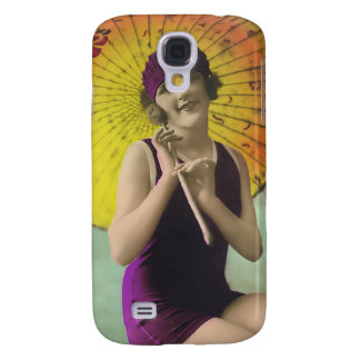 Vintage Sun Bather Beach Babe 3G Spec Galaxy S4 Case