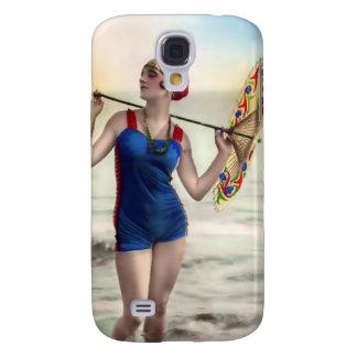 Vintage Sun Bather Beach Babe 3G Spec Samsung Galaxy S4 Cases