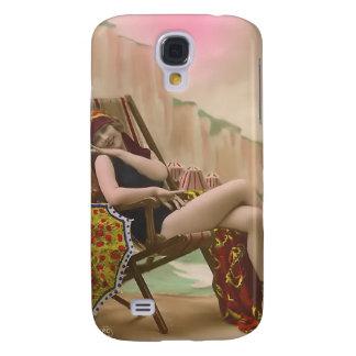 Vintage Sun Bather Beach Babe 3G Spec Galaxy S4 Cover