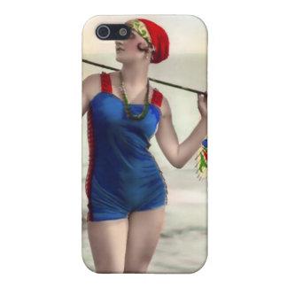 Vintage Sun Bather Beach Babe 4  Case For iPhone SE/5/5s