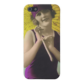 Vintage Sun Bather Beach Babe 4  Cover For iPhone SE/5/5s