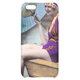 Vintage Sun Bather Beach Babe 4  iPhone 5C Cases