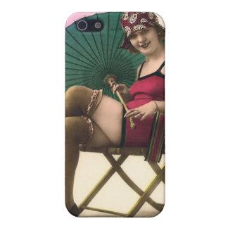 Vintage Sun Bather Beach Babe 4  iPhone 5 Cover