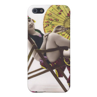 Vintage Sun Bather Beach Babe 4  Cases For iPhone 5