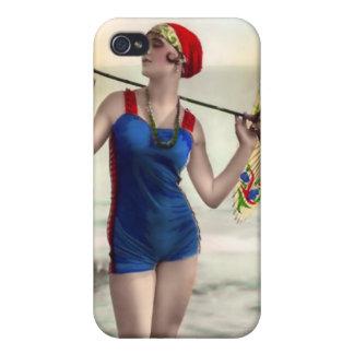 Vintage Sun Bather Beach Babe 4  Case For iPhone 4