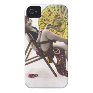 Vintage Sun Bather Beach Babe Case-Mate Case iPhone 4 Cases