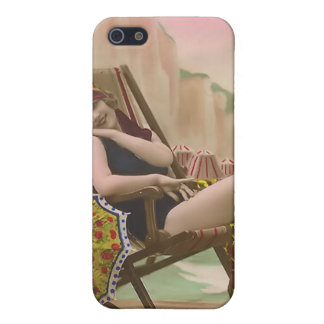 Vintage Sun Bather Beach Babe iPhone 4 Speck Case iPhone 5 Cases