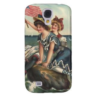 Vintage Sun Bather Beach Babes 3G Spec Galaxy S4 Cases