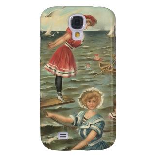 Vintage Sun Bather Beach Babes 3G Spec Galaxy S4 Case