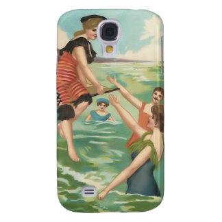 Vintage Sun Bather Beach Babes 3G Spec Galaxy S4 Cover