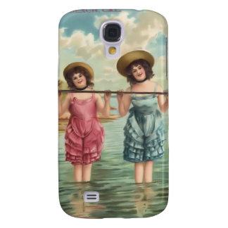 Vintage Sun Bather Beach Babes 3G Spec Samsung Galaxy S4 Case