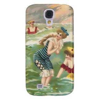 Vintage Sun Bather Beach Babes 3G Spec Samsung Galaxy S4 Cover
