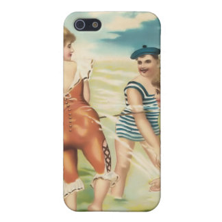 Vintage Sun Bather Beach Babes 4  Cover For iPhone SE/5/5s