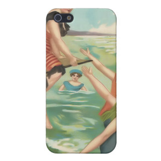 Vintage Sun Bather Beach Babes 4  iPhone 5 Cases
