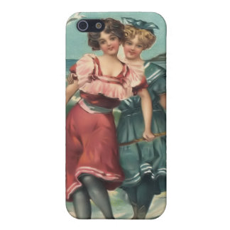 Vintage Sun Bather Beach Babes 4  Covers For iPhone 5