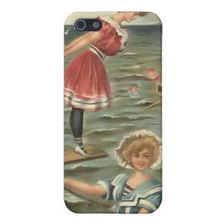Vintage Sun Bather Beach Babes 4  iPhone SE/5/5s Case
