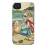 Vintage Sun Bather Beach Babes Case-Mate Case iPhone 4 Covers