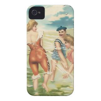 Vintage Sun Bather Beach Babes Case-Mate Case iPhone 4 Case