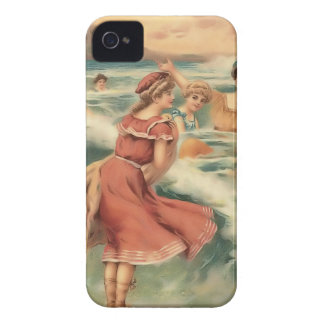 Vintage Sun Bather Beach Babes Case-Mate Case Case-Mate iPhone 4 Case
