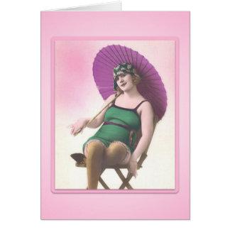 Vintage Sun Bather Card