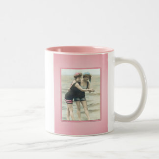 Vintage Sun Bathers Beach Mug
