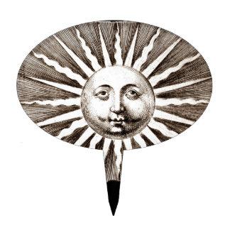 Vintage Sun Design Cake Topper