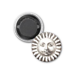 Vintage Sun Design Fridge Magnet