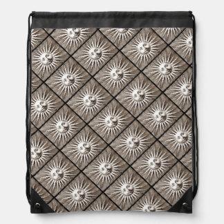 Vintage Sun Design Cinch Bag
