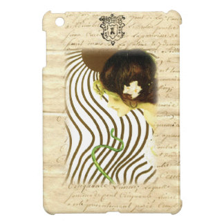 Vintage Sun Girl French Letter Case For The iPad Mini