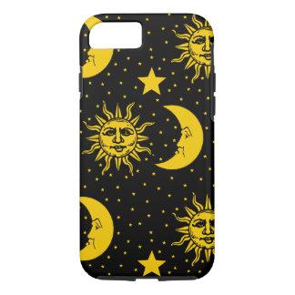 Vintage Sun Moon Stars Pattern iPhone 7 Case