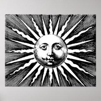 Vintage Sun Poster