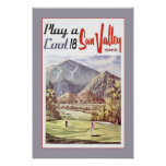 Vintage Sun Valley Golf Sports Travel Retro Poster