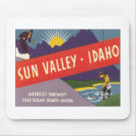 Vintage Sun Valley Idaho Mouse Pads