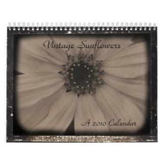 Vintage Sunflower 2010 Wall Calendars