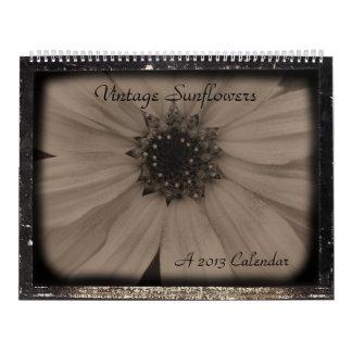 Vintage Sunflower 2013 Wall Calendars