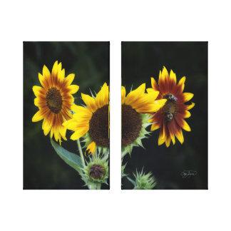 Vintage Sunflower Artistic Panels Home Decor