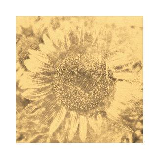 Vintage Sunflower artwork #1 - Wrapped canvas