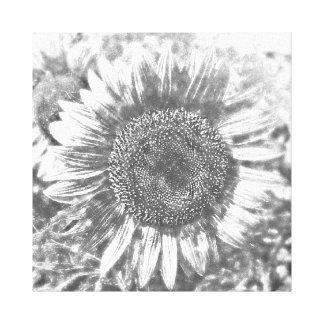 Vintage Sunflower artwork #2 - Wrapped canvas
