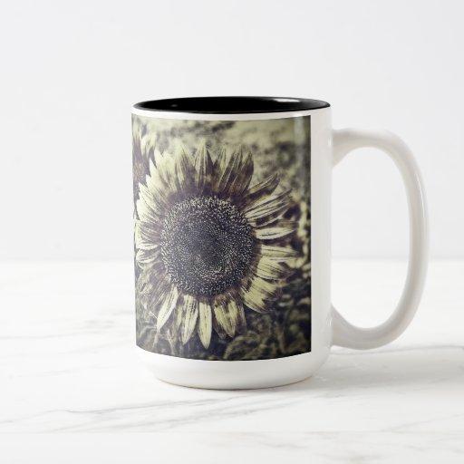 Vintage Sunflower artwork #3 - Mug