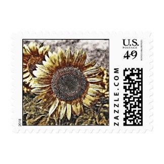 Vintage Sunflower artwork #4 - postage