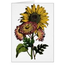 Vintage Sunflower - Blank Card
