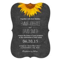 Vintage Sunflower Chalkboard Wedding Invitations (<em>$2.25</em>)
